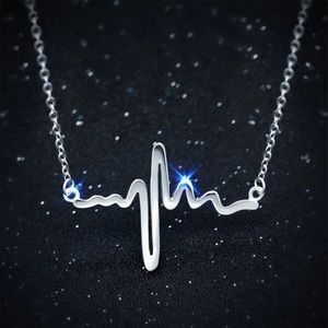 Stainless Steel Heartbeat 💓 Necklace